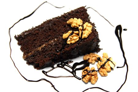 beautiful and delicious chocolate cake photo