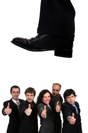 business shoe steping and destroying Stock Photo - 5044244