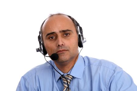 sexy man in a business call center Stock Photo - 5110304
