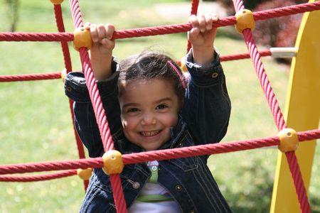 children in the fun park Stock Photo