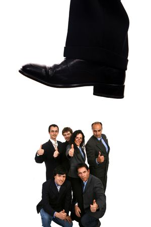 business shoe steping and destroying Stock Photo - 5215215
