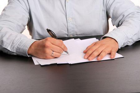 businessman doing paperwork, business photography