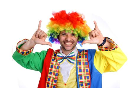 happy crazy clown in a party Stock Photo - 5910229