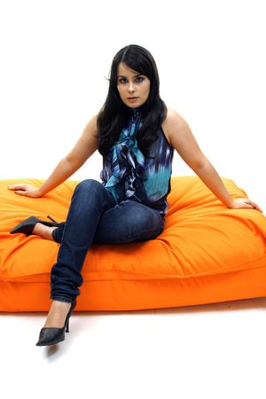 attractive and beautiful casual young woman Stock Photo - 5911211
