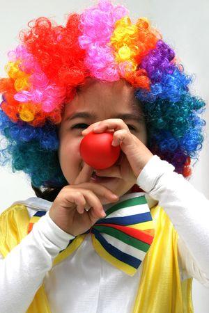 Funny clown, child, girl, female photo