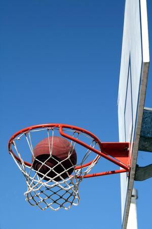 tabla de baloncesto, deporte colectivo, Parque Foto de archivo - 6127201