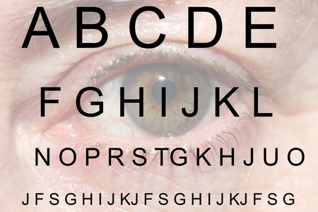 vision test with background eye Stock Photo - 7766555