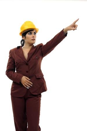 female architect: young and beautiful female architect