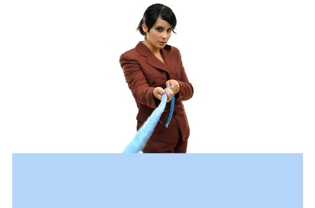 Young woman holding blank board Stock Photo - 7766136