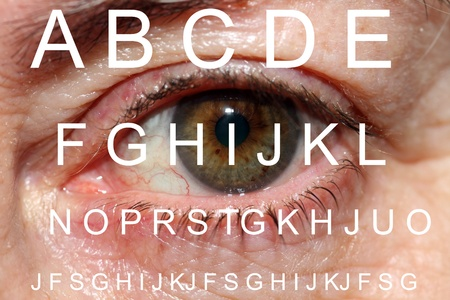 vision test with background mature eye Stock Photo - 9042136