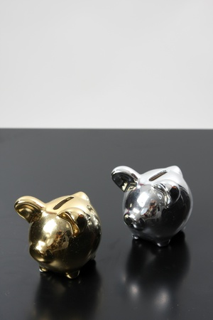 sucess: golden pig bank, family sucess, business concept