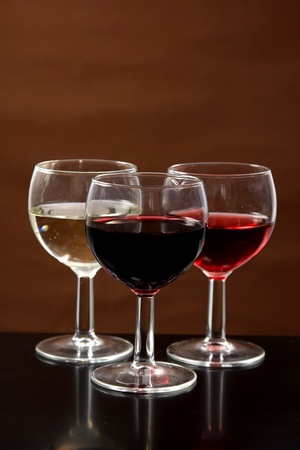 Red, rose and white wine, drink photo photo