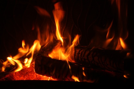 nice home fire in the fireplace, home photo Stock Photo - 9041323