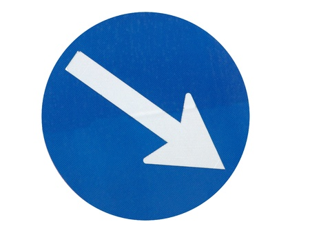 blue arrow direction sign                                photo