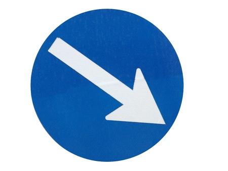 blue arrow direction sign                                photo