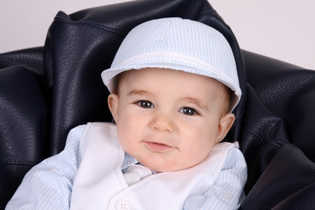 Portrait of a happy baby boy, studio photo Stock Photo - 10601172