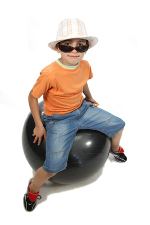 happy boy with a ball Stock Photo - 13886007