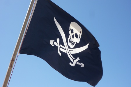 Flag of a Pirate skull and crossbones - Pirates Flag Stock Photo - 12695764