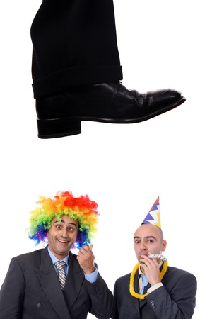 business shoe steping and destroying Stock Photo - 13912536