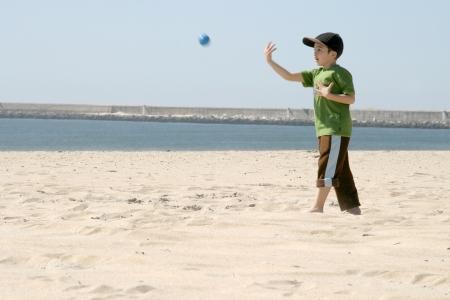 playing baseball on the beach, sports photo Stock Photo - 13886047