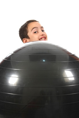 happy boy with a ball Stock Photo - 13886005
