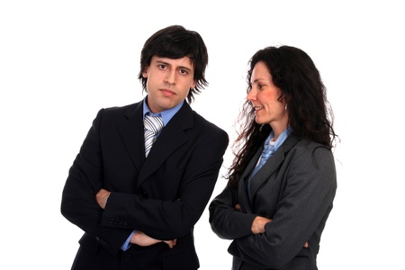 businessteam, business couple, business concept photo