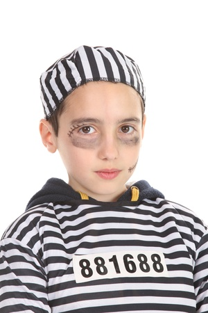 A view of a sad prisoner in jail  Stock Photo - 16064740