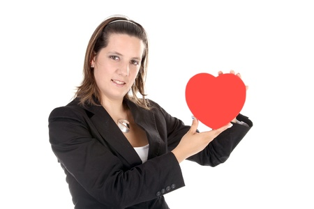 businesswoman with heart photo