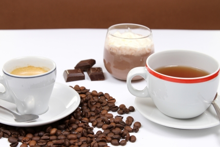 choco: coffe,tea and choco cream