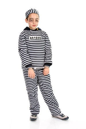 A view of a sad prisoner in jail  Stock Photo - 16064694