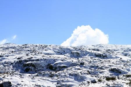 beautiful mountain with snow Stock Photo