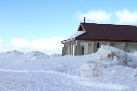 beautiful white snow Stock Photo