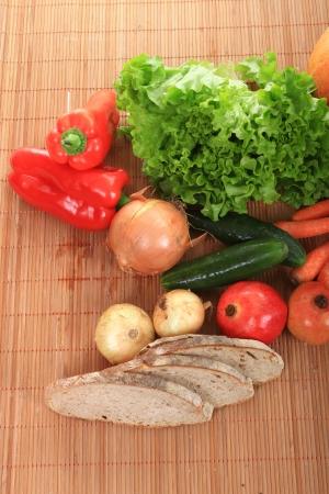 beautiful vegetables isolated on white background Stock Photo