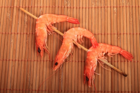 beautiful food dish, Shrimp skewers