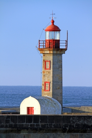 Lighthouse in Foz of Douro, Portugal Stock Photo