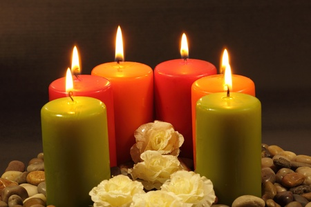 easter candle is burning: Easter candle pray love Stock Photo