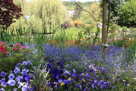 Jardin de fleurs au printemps Banque d'images - 9352082
