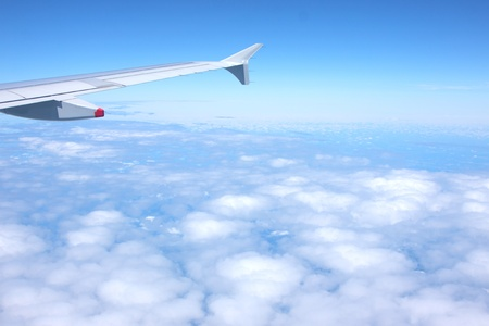 clouds and blue sky seen from plane Stock Photo - 10088094