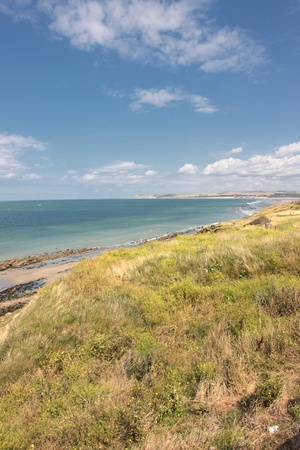 le cap: paisaje de la costa de ópalo en Francia