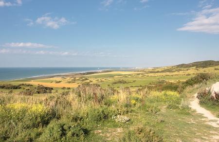 landschap van de Côte d'Opale in Frankrijk