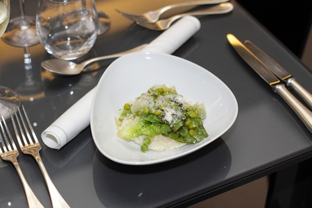 plate of risotto in a great French restaurant photo