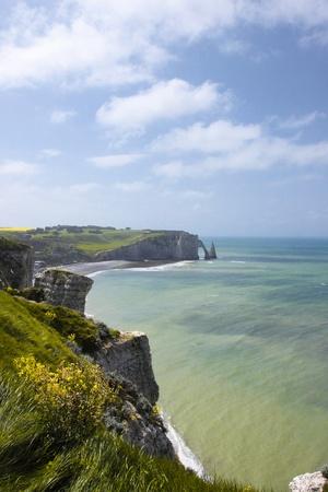 landscape, the cliffs of Etretat in France photo