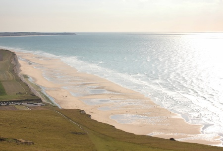 calais: seascape from the coast of opal in France