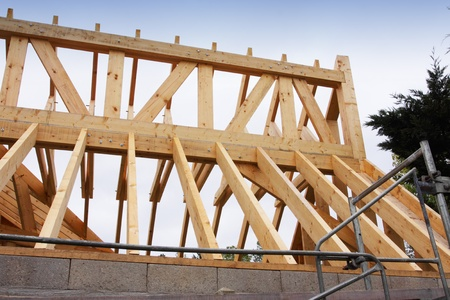 construction of the wooden frame of a roof Stock Photo - 11016766
