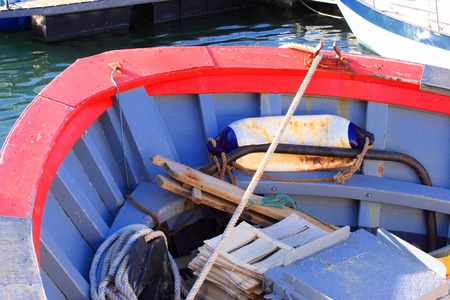 details of an old fishing boat, a trawler photo