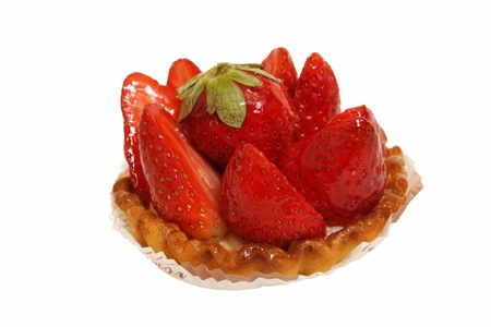 a tart strawberry on a white background Stock Photo - 12071487