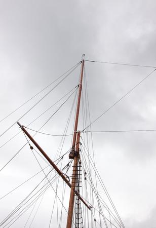 mast of an old sailing ship Norwegian photo