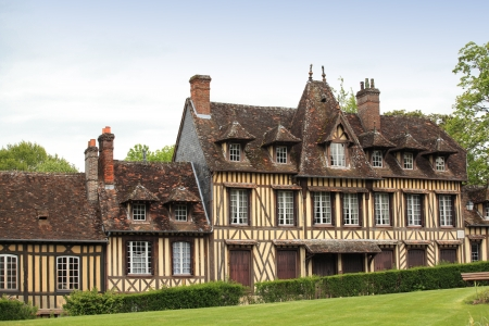 great and ancient house in Normandy France Standard-Bild