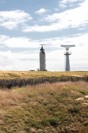 radar and lighthouse in Cap Gris Nez in France photo