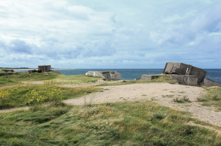 German bunker in Normandy from the Second World War photo
